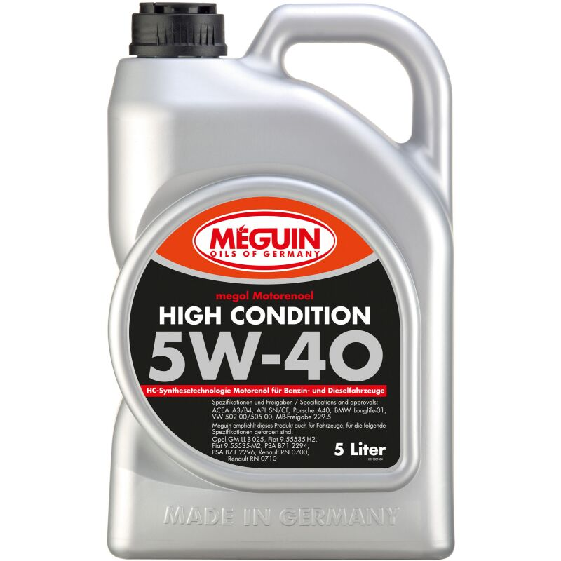 Meguin 3198 megol Motorenoel High Condition 5W-40 - 5 Liter
