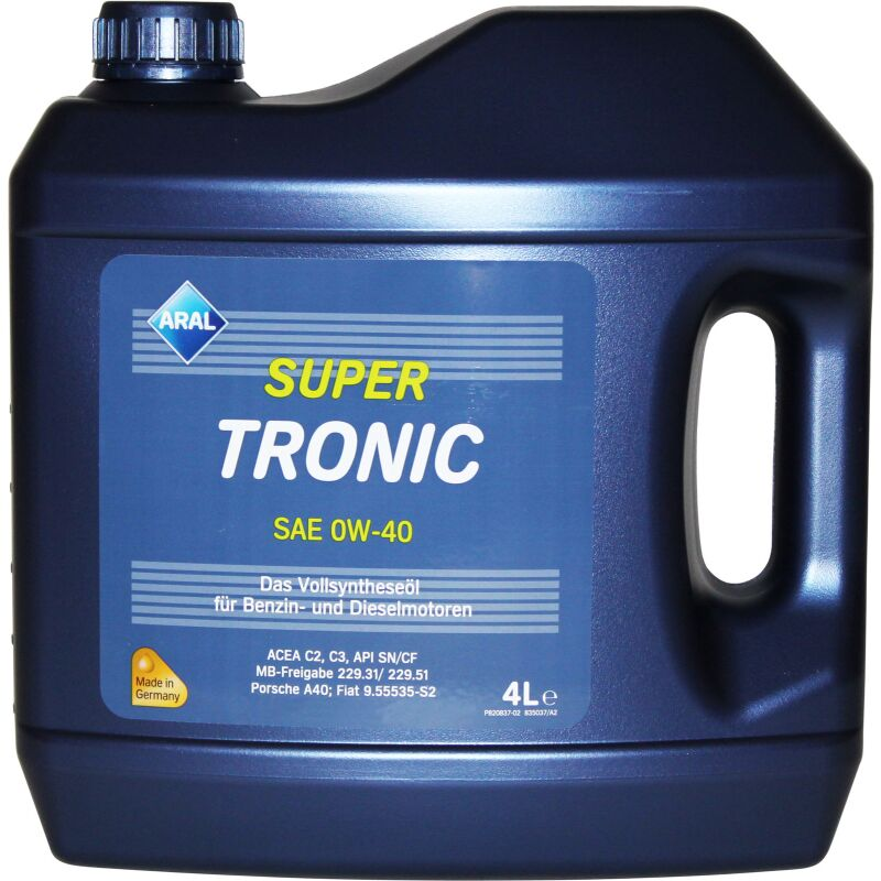 Aral Super Tronic SAE 0W-40 - 4 Liter