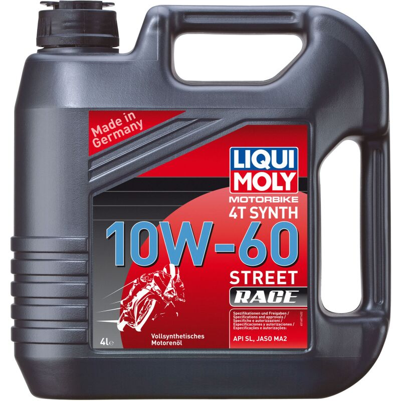 Liqui Moly 1687 Motorbike 4T Synth 10W-60 Race - 4 Liter